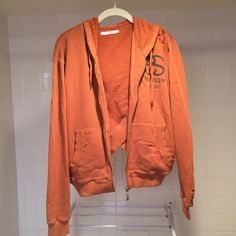 Stussy zip up distressed hoodie Stussy zip up distressed hoodie. Size 8 Australian, which is basically a size small. Cut slightly higher in the back. Pre-distressed. Never worn! Stussy Tops Sweatshirts & Hoodies