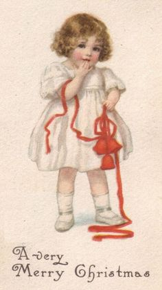 Old Christmas Card —  A Very Mary Christmas, 1914   (501x900)