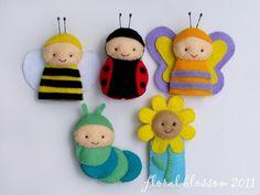 Garden Friends Felt Finger Puppets by FloralBlossom, image 3