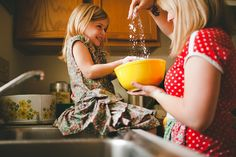Baking... This will be the scene in my kitchen with my little girl someday!
