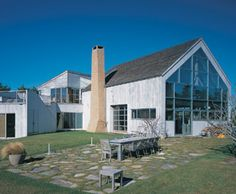 This Long Island beach house is a contemporary take on the barn.  Source