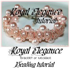 Royal Elegance Beading Pattern PDF bracelet or necklace beading pattern tutorial technique on Etsy, $6.80