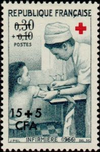 Stamp: Nurse (French Colonies and Territories) (Reunion) Yt:FR-RE 371,Mi:RE 448