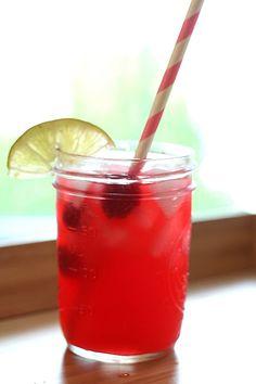 Low Carb Raspberry Limeade