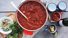 The chili can be made four days ahead and stored in the refrigerator. Reheat it on the stove top before serving.