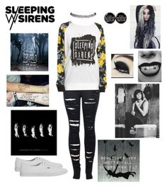 """""""Sleeping With Sirens"""" by piercetheeden-loves-5sos ❤ liked on Polyvore featuring 2LUV, Vans and Wet Seal"""