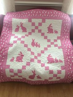 Bunny Love quilt, a new release pattern from Cool Cat Creations