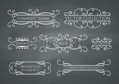 30177224-calligraphic-design-elements-vector-set-on-chalkboard-background.jpg (450×321)