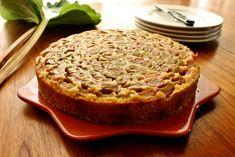 Gluten-Free Rhubarb Almond Polenta Cake