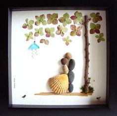 Einzigartiges Hochzeitsgeschenk, Hochzeit Geschenk kieselstein Kunst, einzigartiges Engagement Geschenk personalisiert paar Geschenk, Braut und Bräutigam Geschenk, Hochzeitsgeschenk, des Paares Geschenk Liebe Geschenke, Kiesel Art zu feiern und schätzen den besonderen Anlass; ein außergewöhnliches Geschenk, die für viele Jahre geschätzt werden wird. ✿ Original Kiesel-Art mit einem Sinn für Romantik, Geheimnis und Magie. ✿ Kommt in 8 x 8 Zoll schwarz Shadow Stil Kastenrahmen, etwa 1,5 Zoll…