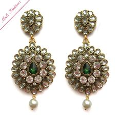 A personal favorite from my Etsy shop https://www.etsy.com/listing/287206349/emerald-chandelier-earrings-antique-gold