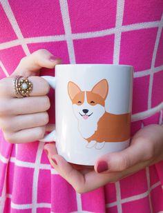 Wraparound Adorable Corgi Mug by AfternoonCoffee on Etsy, $19.25