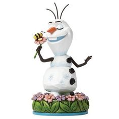 Olaf with Flowers Statue: Disney Traditions Frozen - Baby Feathers Gift Shop