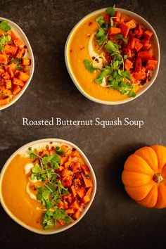 The Good Wife's Guide, Veggie Recipes, Cooking Recipes, Roasted Butternut Squash Soup, Fresh Herbs, Soups And Stews, Good Food, Food And Drink, Veggies