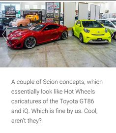 Scion, Caricature, Hot Wheels, Toyota, Concept, Cool Stuff, Cool Things