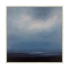 Clouds build over calm waters in this abstract nighttime seascape. With a sliver of ocean below and an expanse of sky above, you can practically feel the deck rocking beneath your feet. A contemplative and nuanced hanging for any interior, featuring a sophisticated nautical palette. • Shipping times and return policies may vary by product. Please see our shipping and returns policy for more information. • We apologize, this item is excluded from promotional discounts. Please see our…