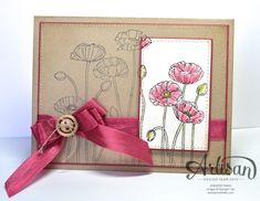 SU Artisan Card - Poppies by jentimko - Cards and Paper Crafts at Splitcoaststampers