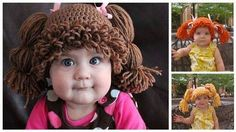 """DIY """"Cabbage Patch Kid Crochet Wigs"""" - Find Fun Art Projects to Do at Home and Arts and Crafts Ideas"""