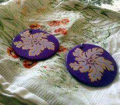 #Handmade and #handpainted #earrings. #Orecchini realizzati e dipinti a mano. Acrilico su #terracotta 15€