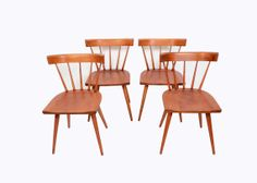 Paul Mccobb Maple Dining Chairs Set of 4 1950s by HearthsideHome, $649.00