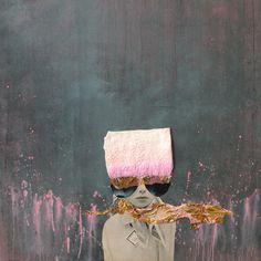 Pink Lights - Collage - Original 80 x 80 x 4 cm