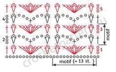 Free scheme openwork crochet pattern 6