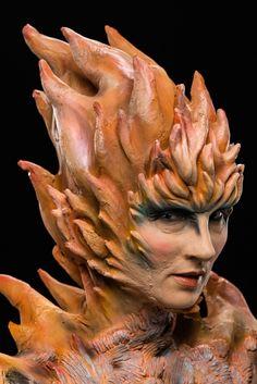 Stella's Wildfire-themed fairy. Photo credit: Brett-Patrick Jenkins Movie Makeup, Scary Makeup, Sfx Makeup, Doll Makeup, Face Off Makeup, Face Paint Makeup, Art Costume, Costume Makeup, Face Off Syfy