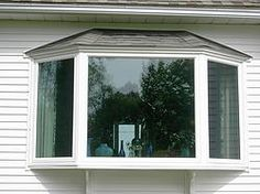 Exciting Bay Windows Exterior Decorating Ideas Fabulous Using White Frames And Ceiling Combined With Wooden Wall