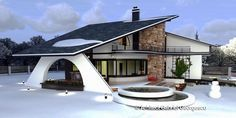 Luxury Villa Inspired From Macedonia – Amazing Architecture Magazine Online Architecture, Architecture Magazines, Amazing Architecture, House Plans With Pictures, House Design Pictures, Modern Small House Design, Bungalow House Design, House Outside Design, House Front Design