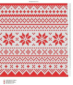 Advents-Knit-Along Norwegermusterkissen Teil 2 Muster 3 Advent, Quilt Patterns, Knitting Patterns, Sewing Projects, Projects To Try, Cross Stitch Borders, Nordic Style, Quilts, Crochet