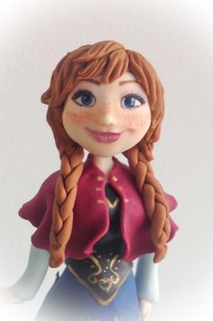 Anna - Frosen - Cake by Mnhammy by Sofia Salvador
