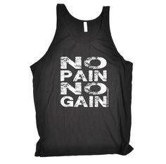 c496f31c014 NO PAIN NO GAIN - NEW PREMIUM TANK VEST TOP - by Fonfella  Amazon.co.uk   Clothing