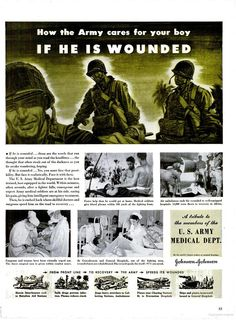 Johnson & Johnson ad, Sept. 1943