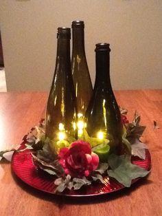 DIY Wine Bottle Wedding Centerpieces | Wine bottle centerpiece | Candle decoration