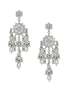 The Styling Up stylists recommend: Miss Selfridge: Silver Snow Drop Earrings