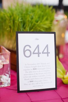 Meaningful numbers as table numbers