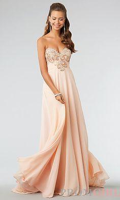 JVN by Jovani Strapless Sweetheart Floor Length Dress at PromGirl.com