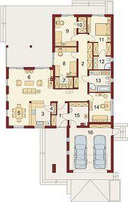 Jeremiasz 2 PS - Rzut parteru Planer, House Plans, Pergola, Floor Plans, Layout, Flooring, How To Plan, Interior, Small Homes