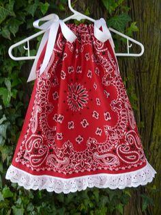 Bandana Pillowcase Dress ... no pattern.. but cute, cute.. cute.. how difficult would it be?