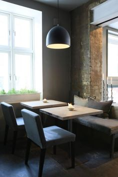 nice area for a coffee shop Oslo, Cool Restaurant, Restaurant Design, Restaurant Ideas, Table Cafe, Cafe Bar, My Coffee Shop, Coffee Shops, Peacock Room