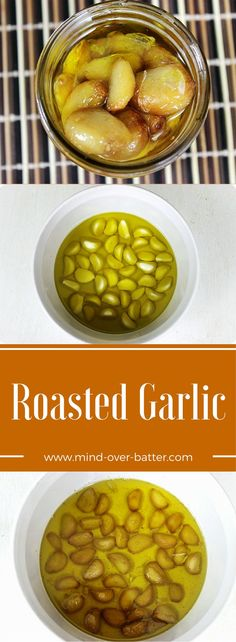 Aromatic garlic is roasted in copious amounts of olive oil. Make, eat, breathe on someone. Just share! http://www.mind-over-batter.com http://www.mind-over-batter.com