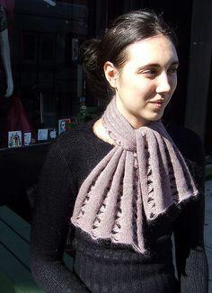 Angora hand-manipulated machine knit scarf