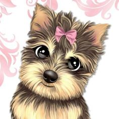 Everything About The Affectionate Yorkie Pup Kittens And Puppies, Cute Puppies, Cute Dogs, Animals And Pets, Baby Animals, Cute Animals, Cute Animal Drawings, Cute Drawings, Cute Images