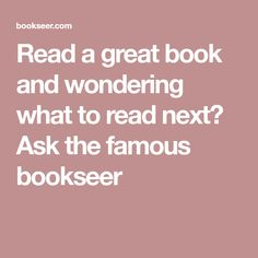 Readanybook online reading for free current reading read a great book and wondering what to read next ask the famous bookseer fandeluxe Gallery