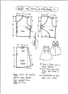Best 12 Prodigious Sewing Make Your Own Clothes Ideas – SkillOfKing. Kids Dress Patterns, Baby Patterns, Clothing Patterns, Sewing For Kids, Baby Sewing, Couture Bb, Little Girl Dresses, Sewing Clothes, Sewing Tutorials