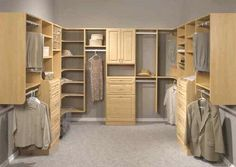 Organization is key for a master walk-in closet.  Clean, practical design with very usable storage.