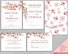 MUJKA CHERRY BLOSSOM WEDDING INVITATION SET - Cherry Blossom - Designs Templates, Free Printable Wedding Invitations, Wedding Invitation Template | homahku.com