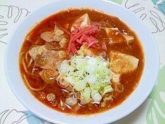 「蒙古タンメン風!麻婆ラーメン++」中本の蒙古タンメン風!味噌タンメンに麻婆乗せの、いわゆる蒙古タンメンではなく、スープも蒙古な簡単バージョンです。【楽天レシピ】