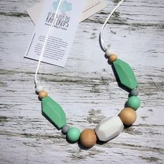 NEW- Teethe Necklace, Silicone Teething Necklace, Silicone Beads/,Baby Shower Gift/ New Mom Gift Maternity #siliconeteething #momlife #teethingbaby #baby #teething
