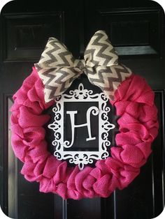 Polka Dots in the Country: D.I.Y Valentine Wreath with Pink Burlap